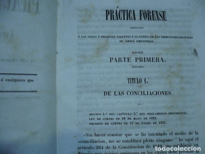Libros antiguos: PRACTICA FORENSE TRIBUNALES ESPAÑOLES AMBOS EMISFERIOS J.JAUMAR Y CARRERA 1840 BARCELONA - Foto 5 - 94763823