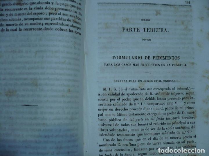 Libros antiguos: PRACTICA FORENSE TRIBUNALES ESPAÑOLES AMBOS EMISFERIOS J.JAUMAR Y CARRERA 1840 BARCELONA - Foto 7 - 94763823