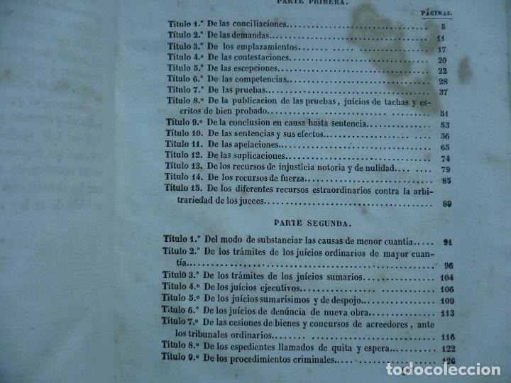 Libros antiguos: PRACTICA FORENSE TRIBUNALES ESPAÑOLES AMBOS EMISFERIOS J.JAUMAR Y CARRERA 1840 BARCELONA - Foto 8 - 94763823