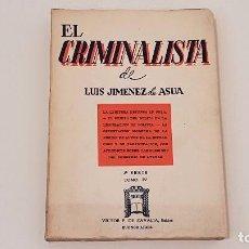 Libros antiguos: EL CRIMINALISTA TOMO IV LEGITIMA DEFENSA CUBA 1960. Lote 95822915