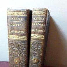 Libros antiguos: EL DERECHO DE GENTES O PRINCIPIOS DE LA LEY NATURAL TOMOS I Y II COMPLETA - MADRID 1834.. Lote 96004119
