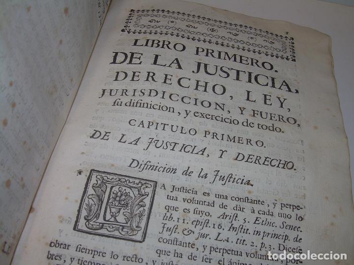 Libros antiguos: LIBRO TAPAS DE PERGAMINO..INSTRUCCION JURDICA DE ESCRIBANOS,ABOGADOS Y JUECES....AÑO 1760 - Foto 8 - 96411707
