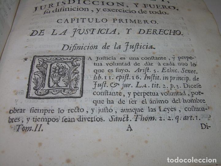 Libros antiguos: LIBRO TAPAS DE PERGAMINO..INSTRUCCION JURDICA DE ESCRIBANOS,ABOGADOS Y JUECES....AÑO 1760 - Foto 9 - 96411707