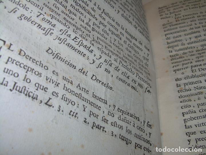 Libros antiguos: LIBRO TAPAS DE PERGAMINO..INSTRUCCION JURDICA DE ESCRIBANOS,ABOGADOS Y JUECES....AÑO 1760 - Foto 11 - 96411707
