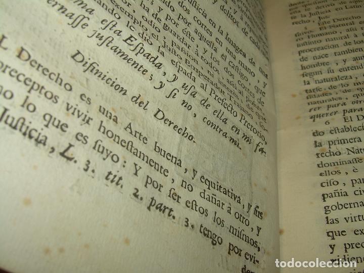 Libros antiguos: LIBRO TAPAS DE PERGAMINO..INSTRUCCION JURDICA DE ESCRIBANOS,ABOGADOS Y JUECES....AÑO 1760 - Foto 12 - 96411707