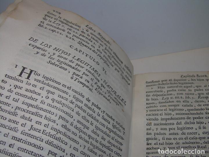 Libros antiguos: LIBRO TAPAS DE PERGAMINO..INSTRUCCION JURDICA DE ESCRIBANOS,ABOGADOS Y JUECES....AÑO 1760 - Foto 15 - 96411707