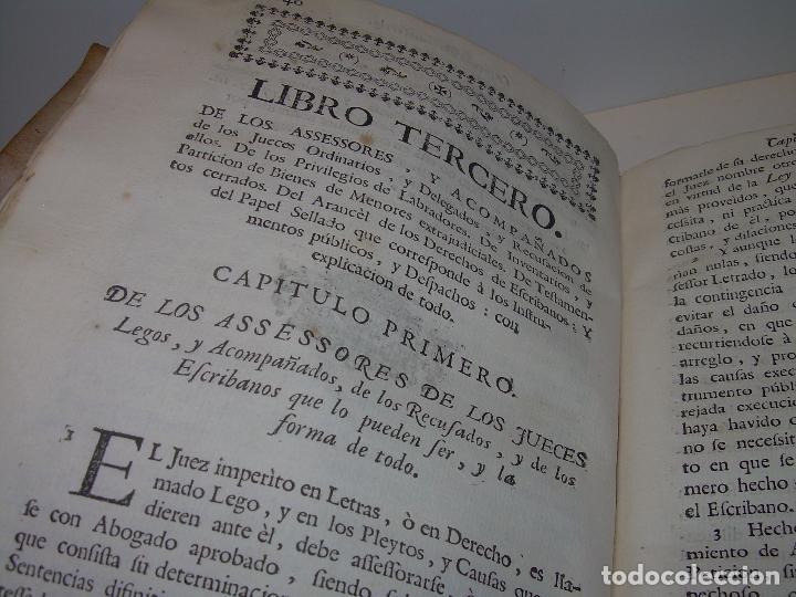 Libros antiguos: LIBRO TAPAS DE PERGAMINO..INSTRUCCION JURDICA DE ESCRIBANOS,ABOGADOS Y JUECES....AÑO 1760 - Foto 17 - 96411707