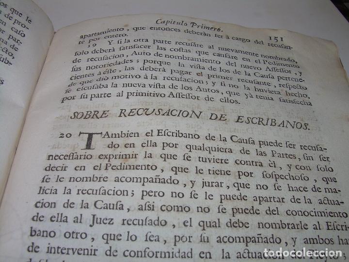 Libros antiguos: LIBRO TAPAS DE PERGAMINO..INSTRUCCION JURDICA DE ESCRIBANOS,ABOGADOS Y JUECES....AÑO 1760 - Foto 18 - 96411707