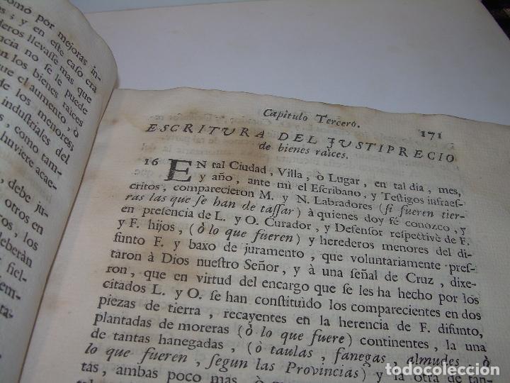 Libros antiguos: LIBRO TAPAS DE PERGAMINO..INSTRUCCION JURDICA DE ESCRIBANOS,ABOGADOS Y JUECES....AÑO 1760 - Foto 19 - 96411707