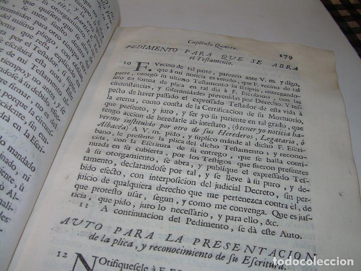 Libros antiguos: LIBRO TAPAS DE PERGAMINO..INSTRUCCION JURDICA DE ESCRIBANOS,ABOGADOS Y JUECES....AÑO 1760 - Foto 20 - 96411707