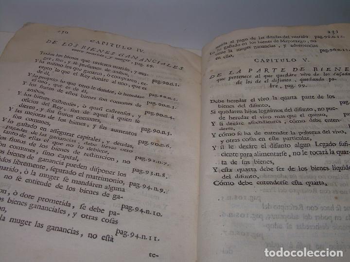 Libros antiguos: LIBRO TAPAS DE PERGAMINO..INSTRUCCION JURDICA DE ESCRIBANOS,ABOGADOS Y JUECES....AÑO 1760 - Foto 25 - 96411707