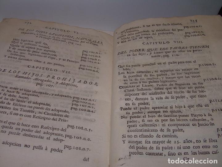 Libros antiguos: LIBRO TAPAS DE PERGAMINO..INSTRUCCION JURDICA DE ESCRIBANOS,ABOGADOS Y JUECES....AÑO 1760 - Foto 26 - 96411707