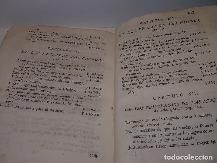 Libros antiguos: LIBRO TAPAS DE PERGAMINO..INSTRUCCION JURDICA DE ESCRIBANOS,ABOGADOS Y JUECES....AÑO 1760 - Foto 28 - 96411707