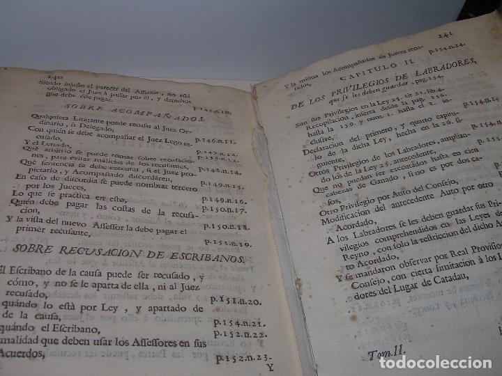 Libros antiguos: LIBRO TAPAS DE PERGAMINO..INSTRUCCION JURDICA DE ESCRIBANOS,ABOGADOS Y JUECES....AÑO 1760 - Foto 30 - 96411707