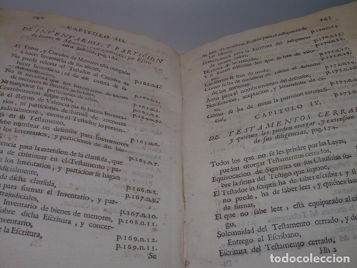 Libros antiguos: LIBRO TAPAS DE PERGAMINO..INSTRUCCION JURDICA DE ESCRIBANOS,ABOGADOS Y JUECES....AÑO 1760 - Foto 31 - 96411707