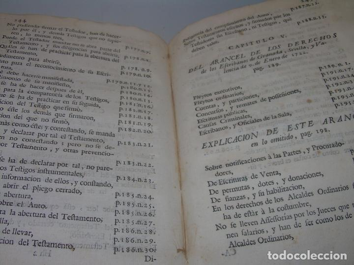 Libros antiguos: LIBRO TAPAS DE PERGAMINO..INSTRUCCION JURDICA DE ESCRIBANOS,ABOGADOS Y JUECES....AÑO 1760 - Foto 32 - 96411707