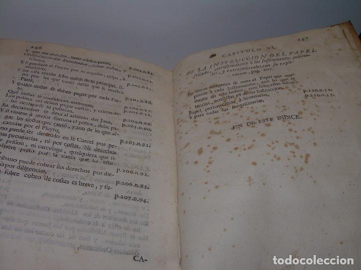 Libros antiguos: LIBRO TAPAS DE PERGAMINO..INSTRUCCION JURDICA DE ESCRIBANOS,ABOGADOS Y JUECES....AÑO 1760 - Foto 33 - 96411707