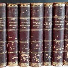 Libros antiguos: COMENTARIOS Á LA LEY DE ENJUICIAMIENTO CIVIL. 7 TOMOS. J. MANRESA. R. DE LEGISLACIÓN. 1881/1913.. Lote 96826007