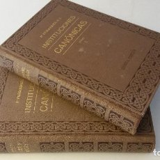 Libros antiguos: 1934 - P. FERRERES - INSTITUCIONES CANÓNICAS - 2 TOMOS. Lote 96975103