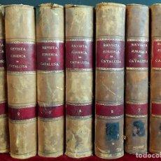 Libros antiguos: REVISTA JURÍDICA DE CATALUÑA. 7 TOMOS. VARIOS AUTORES. VARIAS EDITORIALES.1895/1901.. Lote 97379391