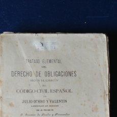 Libros antiguos: LIBRO CODIGO CIVIL ESPAÑOL 1893.. Lote 97472400