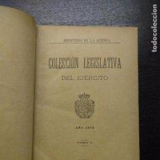 Libros antiguos: COLECCION LEGISLATIVA DEL EJERCITO, AÑO 1876, TOMO 1, 1889. Lote 97675083