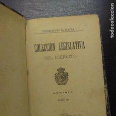 Libros antiguos: COLECCION LEGISLATIVA DEL EJERCITO, AÑO 1875, TOMO III, 1888. Lote 97675939