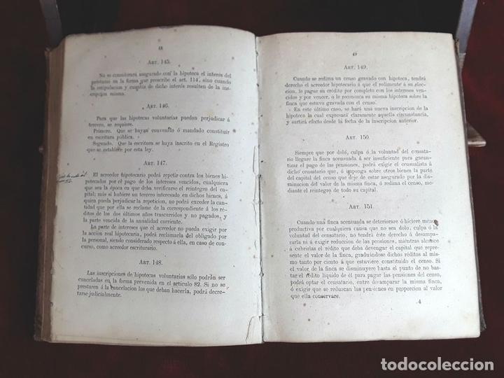 Libros antiguos: LEY HIPOTECARIA REFORMADA Y REGLAMENTO GENERAL. IMP. MIN. DE GRACIA Y JUSTICIA. 1870. - Foto 4 - 97841012