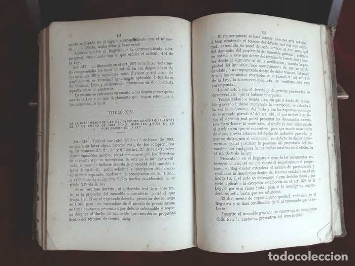 Libros antiguos: LEY HIPOTECARIA REFORMADA Y REGLAMENTO GENERAL. IMP. MIN. DE GRACIA Y JUSTICIA. 1870. - Foto 5 - 97841012
