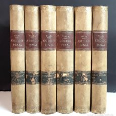 Libros antiguos: SUPLEMENTO 2º CÓDIGO PENAL REFORMADO DE 1870. 6 TOMOS. S. VIADA. 1904/1915.. Lote 97932243