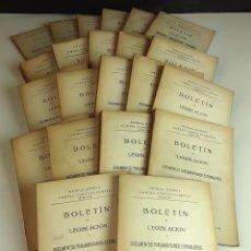 Libros antiguos: BOLETÍN DE LEGISLACIÓN. 22 EJEMPLARES. NUEVA IMPRENTA RADIO S.A.1931/33.. Lote 98478699