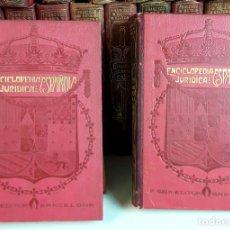 Libros antiguos: ENCICLOPEDIA JURÍDICA ESPAÑOLA. 39 VOLÚMENES. EDIT. FRANCISCO SEIX. 1911/1920.. Lote 99513739