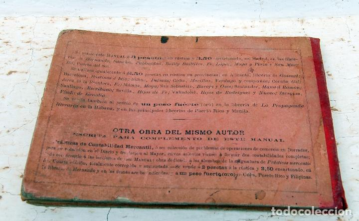 Libros antiguos: LIBRO MANUAL DE TENEDURIA DE LIBROS POR PARTIDA DOBLE DE JOSE SALVADOR Y GAMBOA 1894 - Foto 2 - 100552951