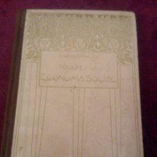 Libros antiguos: NOCIONES DE ECONOMIA SOCIAL.1910. Lote 101215956