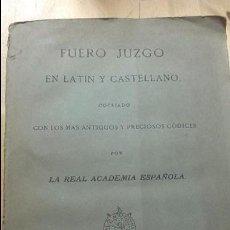 Libros antiguos: FUERO JUZGO O LIBRO DE LOS JUECES, (IBARRA, 1815). Lote 102031991