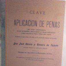 Libros antiguos: LIBRO- DERECHO, APLICACION DE LAS PENAS DE 1899. Lote 102064683