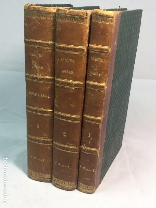 PRACTICA GENERAL FORENSE ORTIZ DE ZÚÑIGA 3 TOMOS BUEN ESTADO 1856 LEYES MEDICINA JUDICIAL IMP MADRID (Libros Antiguos, Raros y Curiosos - Ciencias, Manuales y Oficios - Derecho, Economía y Comercio)