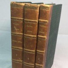 Libros antiguos: PRACTICA GENERAL FORENSE ORTIZ DE ZÚÑIGA 3 TOMOS BUEN ESTADO 1856 LEYES MEDICINA JUDICIAL IMP MADRID. Lote 102713151