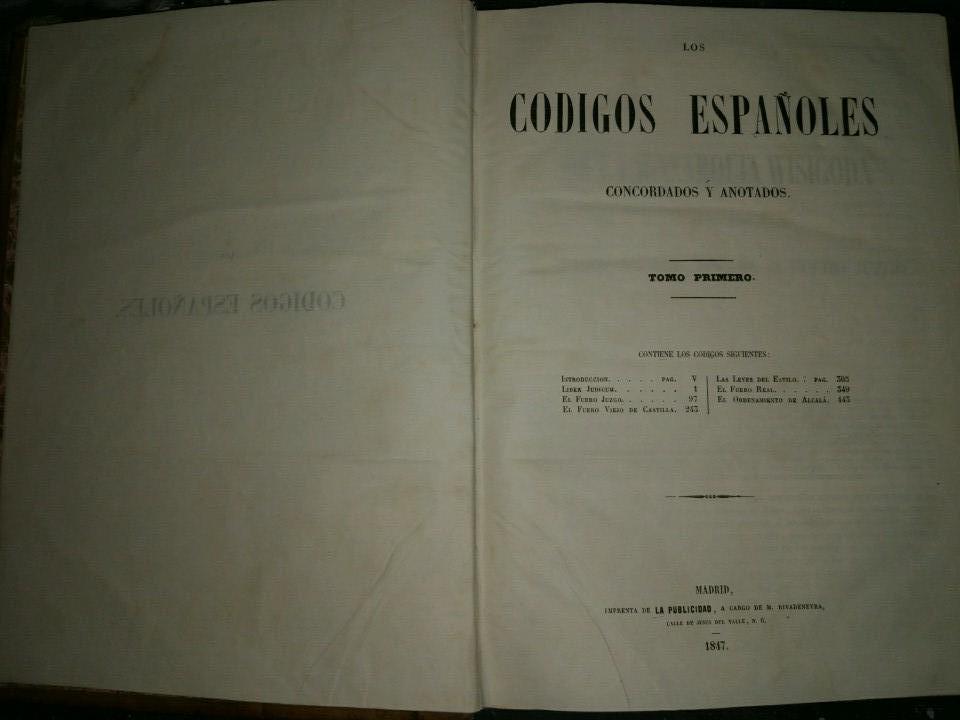 Libros antiguos: Los Códigos Españoles Concordados y Anotados. Colección Completa (12 vol). 1ª Edición (1847-51) - Foto 7 - 178624405