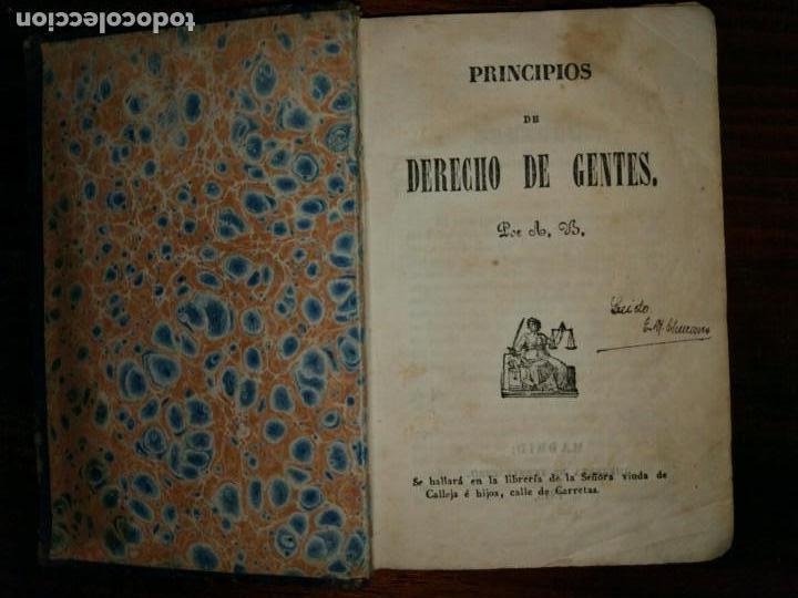 Libros antiguos: Principios de Derecho de Gentes. Andrés Bello. Madrid. 1843 - Foto 2 - 103725019