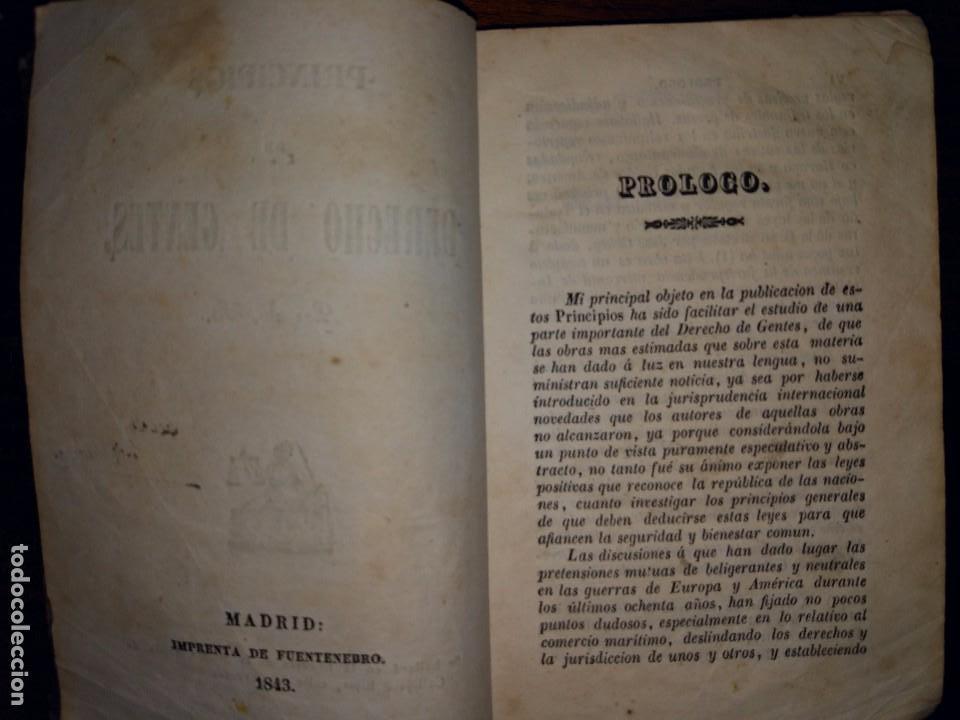 Libros antiguos: Principios de Derecho de Gentes. Andrés Bello. Madrid. 1843 - Foto 3 - 103725019