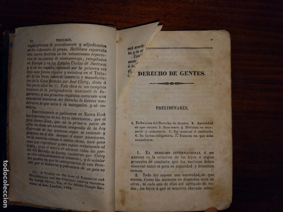 Libros antiguos: Principios de Derecho de Gentes. Andrés Bello. Madrid. 1843 - Foto 4 - 103725019