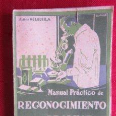 Libros antiguos: MANUAL PRÁCTICO DE RECONOCIMIENTO DE PRODUCTOS. A.DE LA HELGUERA.ED. CULTURA. 1927. Lote 103881567