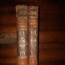 Libros antiguos: PRACTICA CRIMINAL CON EL TRATADO DE LOS RECURSOS DE FUERZA. 2 TOMOS. EUGENIO DE TAPIA. 1857. PARÍS. Lote 103991407