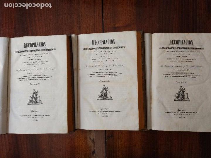 Libros antiguos: Recopilación Estractada, Ordenada y Metódica de las Leyes de 1833 a 1841. 3 Vol (1841) - Foto 2 - 104044703