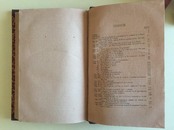 Libros antiguos: DERECHO- LA PRUEBA DE INDICIOS- SANTIAGO LOPEZ MORENO 1.879 - Foto 4 - 104289291