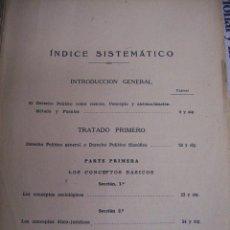 Libros antiguos: DERECHO POLITICO.AÑOS 30. DETERIORADO. Lote 104617159