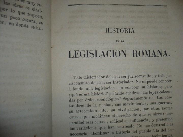 Libros antiguos: EXPLICACION HISTORICA DE LAS INSTITUCIONES DE JUSTINIANO M.ORTOLAN 1872 - Foto 5 - 105316767