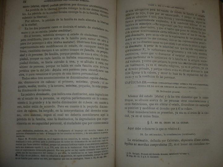 Libros antiguos: EXPLICACION HISTORICA DE LAS INSTITUCIONES DE JUSTINIANO M.ORTOLAN 1872 - Foto 7 - 105316767