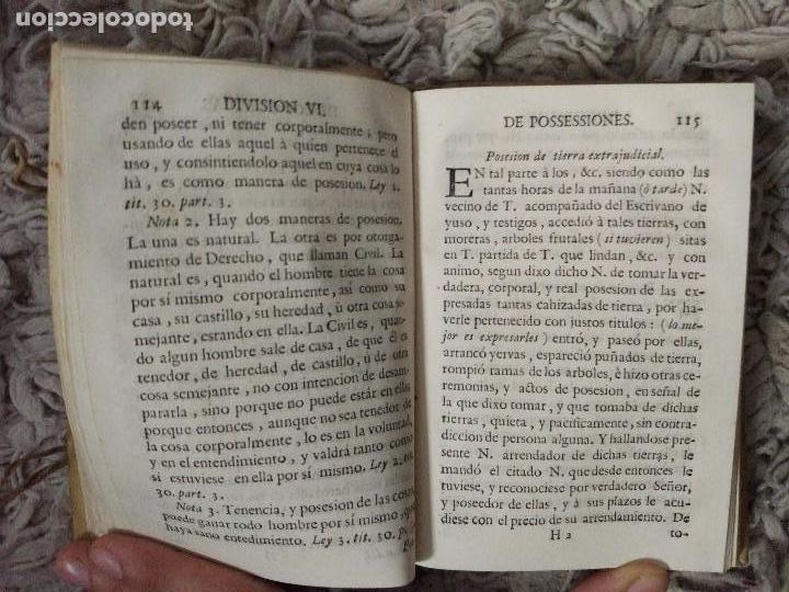 Libros antiguos: Cartilla Real Theorica-Practica para Escrivanos. Tomo III. Diego Bustoso y Lisares. 1768. Pergamino - Foto 5 - 106083563